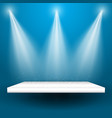 spotlights shining on a shelf vector image