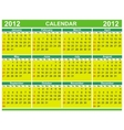 2012 calendars vector image vector image