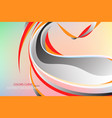 abstract colors curve scene vector image vector image