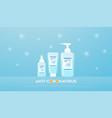 alcohol gel spray soap liquid bottles vector image