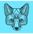 Animal fox head print for adult anti stress vector image