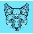 Animal fox head print for adult anti stress vector image
