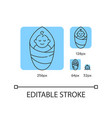 baby blue linear icons set vector image