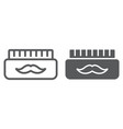 barber gel line and glyph icon container and vector image vector image