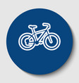 bicycle bike sign white contour icon in vector image