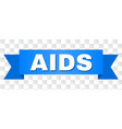 blue ribbon with aids title vector image vector image