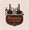 brewery on the background of wooden boards vector image