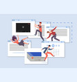 browsing sites people looking for information vector image vector image