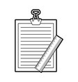 clipboard paper with rule vector image vector image