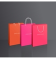 Colorful paper bags set isolated on grey vector image vector image
