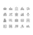commercial property line icons signs set vector image vector image