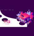 concept landing page or banner for boutique vector image vector image