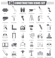 Construction and building tools black icon vector image vector image