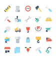 Construction Colored Icons 2 vector image vector image
