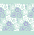 cute baby style floral pattern in pastel color vector image vector image