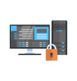 Data center protection icon hosting server