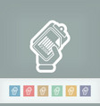 document barcode icon vector image vector image