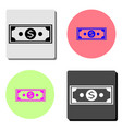 dollar money flat icon vector image vector image