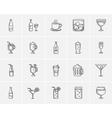 Drinks sketch icon set vector image vector image