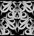 elegant black and white floral seamless pattern vector image