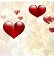 Elegant red billboard with hearts EPS 10 vector image vector image