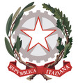 emblem italy vector image vector image