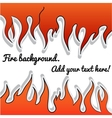 Fire-sticker background vector image