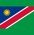 flag in colors of namibia image vector image vector image