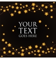 garland gold stars on a black background vector image vector image
