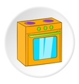 Gas stove icon cartoon style vector image