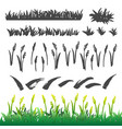 grass drawing elements vector image vector image