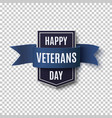 happy veterans day background template vector image vector image