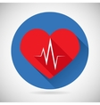 Healthcare and Medical Care Symbol Heart Beat Rate vector image
