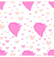 heart abstract pattern background love doodle vector image vector image