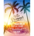 Hello Summer Beach Party Tropic Summer fun vector image vector image