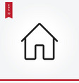 home icon in modern style for web site and mobile vector image