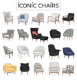 iconic chair hand drawn vector image vector image