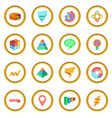 infographic design icons circle vector image vector image