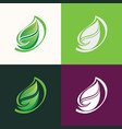 leaf abstract logo vector image