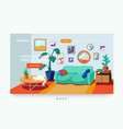 living room interior living room site banner vector image