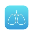 Lungs line icon vector image