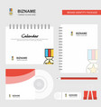 medal logo calendar template cd cover diary and vector image vector image