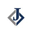 modern solution letter j vector image vector image