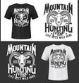 mouflon sheep hunting club t-shirt print mockup vector image vector image