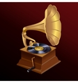 Music gramophone print vector image vector image