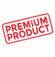 Premium product red rubber stamp vector image