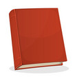 red book cover isolated on white vector image vector image