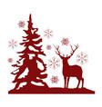 red deer vector image vector image