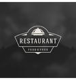 Restaurant Cloche Design Element vector image