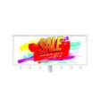 sale creative billboard for ad sales vector image vector image